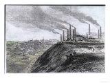 Factory Smoke at Dowlais South Wales