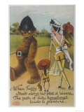 Teddy Bear Policeman Eyes Nurse  Who is Carrying Another Teddy