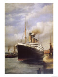The Titanic Docked Before Her Disastrous Voyage