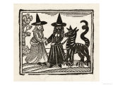 Two Witches and a Familiar  The Traditional Black Dog