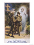 Jesus Watches While Two British Soldiers are Inspired by a Vision of the Cross