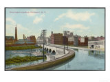Erie Canal the Canal Aqueduct at Rochester New York