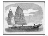 Chinese Pirate-Boat at Canton Carrying a Small Army of Ruffians