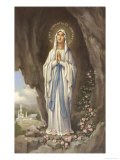 The Virgin Mary as Supposedly Seen by Bernadette  a Highly Romanticised Italian Depiction