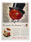 Advertisement for Heinz Tomato Juice Featuring a Very Red Faced Man with a Monacle