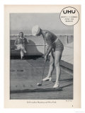 Deck Golf (Putting) on Board an Atlantic Liner