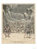 Scene from the Ballet de la Neige in Offenbachs La Voyage dans la Lune
