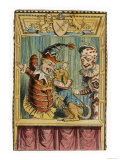 Mr Punch with Toby the Dog and a Clown