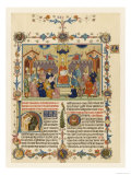 """The Pope in Council  Illustration to the """"Decretum"""" of Gratian of Chiusi a Treatise on Canon Law"""