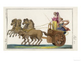 Chariot of the Ancient Greeks with a Woman Driver and a Woman Passenger