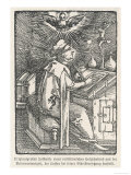 Martin Luther Depicted While Translating the Bible During His Seclusion at the Wartburg