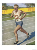 Emil Zatopek Sets the 10 000 Meter Record