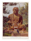 "The ""Daibutsu""  a Giant Statue of the Buddha at Kamakura Japan"