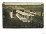 Wilbur Wright's Biplane is Returned to Its Hangar