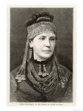 Madame Schliemann Wife of Archeologist Heinrich Schliemann Wearing Ornaments Found