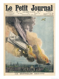 Lieutenant Warneford Shoots Down the First Zeppelin of the War Over Ghent