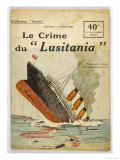 "This Dramatic Cover Page Conveys the Shock Felt after the ""Lusitania"" was Torpedoed"