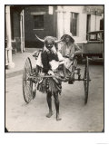 Horned Rickshaw Man in Bulawayo Southern Rhodesia