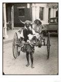 Horned Rickshaw Man in Bulawayo Southern Rhodesia