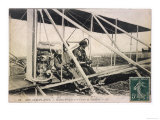 With the Comte de Lambert at the Controls of One of His Biplanes at a French Aviation Meeting
