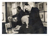 The Wigmakers' Firm Messrs Ede and Ravenscroft Prepare a Wig to Fit a Woman Barrister