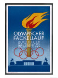 Postcard to Commemorate the Carrying of the Olympic Torch Through Vienna