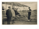 Wilbur Wright Makes a Last Minute Check Before Taking to the Air with a Passenger