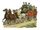 The Four-Horse Charabanc is the Most Popular Vehicle for Excursions