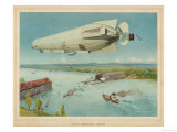 Zeppelin LZ-4 She Makes Her Trial Flights Over the Bodensee