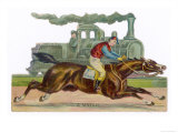 Racehorse Competes with a Steam Engine