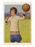 Women&#39;s Football: The Referee with Her Whistle About to Start the Game