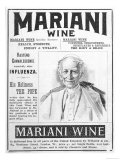 Mariani Wine Good for Health Strength Energy and Vitality as Recommended by His Holiness the Pope