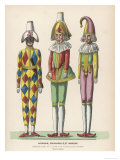 Harlequin Pulcinello  Punch  and Bobeche  Clown