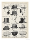 A Variety of Men&#39;s Hats