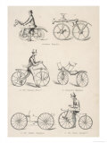 Variety of Early Bicycles