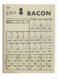 Used Page of Bacon Coupons from a Ration Book