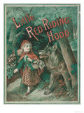 Little Red Riding Hood is Taken by Surprise When a Wolf Appears from Behind a Tree
