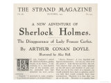 The Disappearance of Lady Frances Carfax Title Page of the Strand Magazine