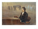 Ludwig Van Beethoven While Sitting at His Piano Beethoven Contemplates His Vision of Death