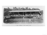 Men&#39;s Singles Match on Centre Court at Wimbledon