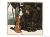 Scene from the Story Showing a Fox in Conversation with the Bear