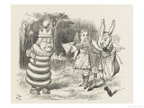 White King Alice and the White King and Rabbit Messenger