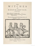 Three of the Witches of Northamptonshire Riding a Pig