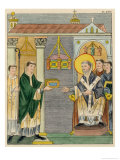 Abbot Elfnoth Presents a Book of Prayer to the Monastery of Saint Augustin