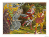 Witch Accompanied by a Beggar and a Fool Curses Two Sergeants-At-Arms Who Slink Away Terrified