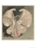 Loie Fuller (Mary Louise Fuller) American Dancer at the Folies Bergere Paris