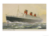 Cunard White Star Liner in Full Steam