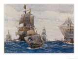 The Spanish Armada the Spanish Fleet in the Bay of Biscay on Its Way to Attack England