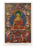 Siddhartha Gautama the Buddha  Eighteenth Century Tibetan Temple Painting