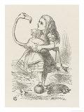 Croquet Alice with the Flamingo Giclée par John Tenniel